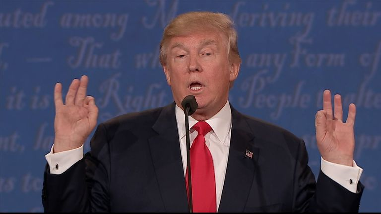Trump would not confirm that he would accept the election result