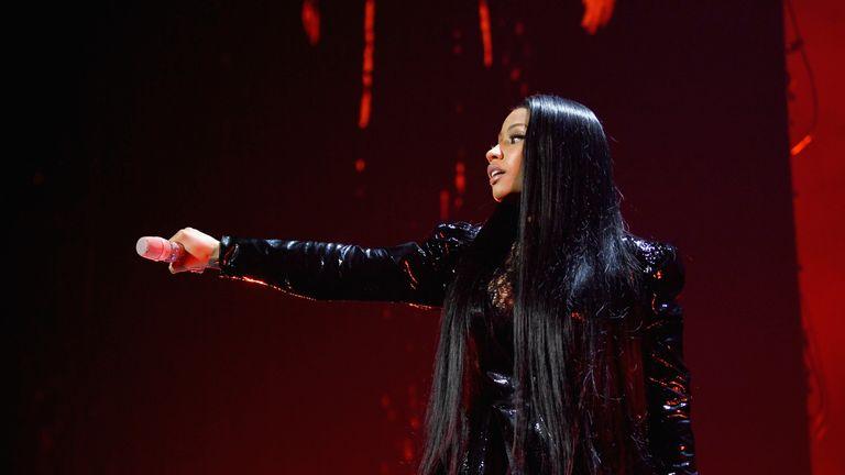 Rapper Nicki Minaj performs at TIDAL X: 1015 in New York City