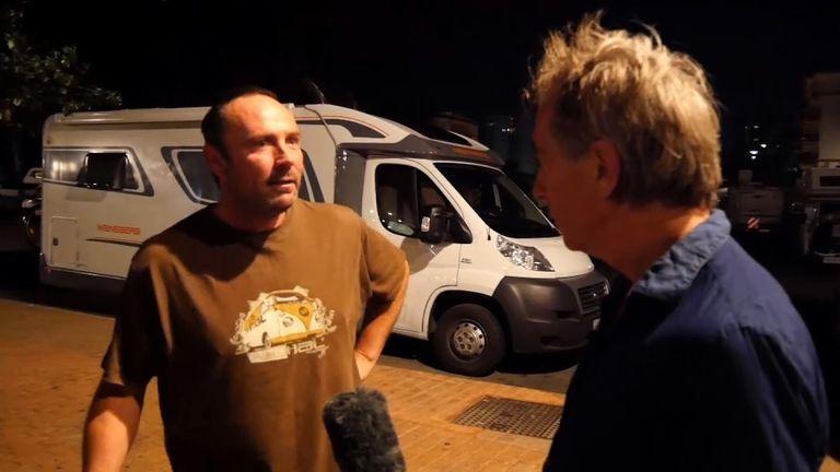 Expat Danny Reid talks to Sky News Crime Correspondent Martin Brunt about British fugitive Matthew Sammon's arrest