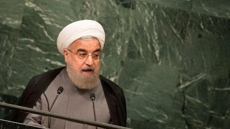 Hassan Rouhani says he was asked for his presidential preference while at a UN meeting