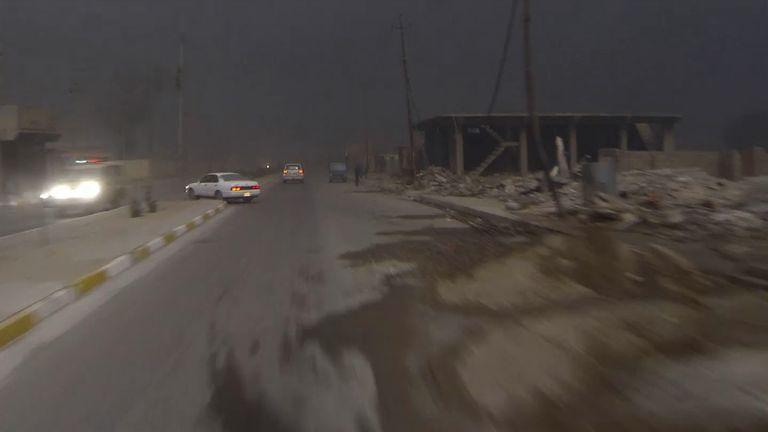 Sky News films in northern Iraq