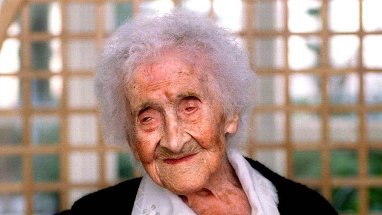 The oldest verified person on record French woman Jeanne Calment