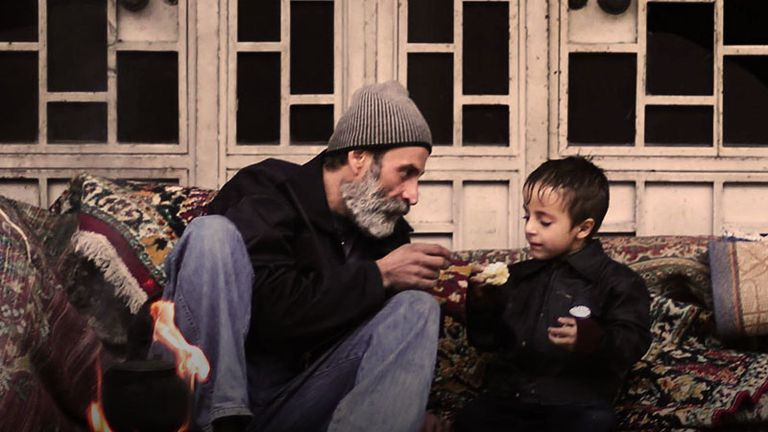 A man and young boy in Aleppo, Syria