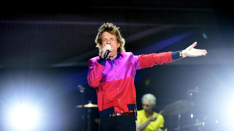 The Rolling Stones perform during the Desert Trip music festival in Indio, California