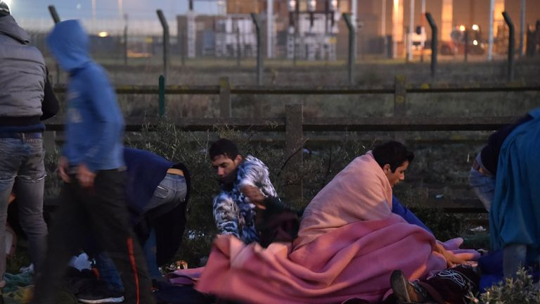The closure of a registration centre forced many to sleep outside