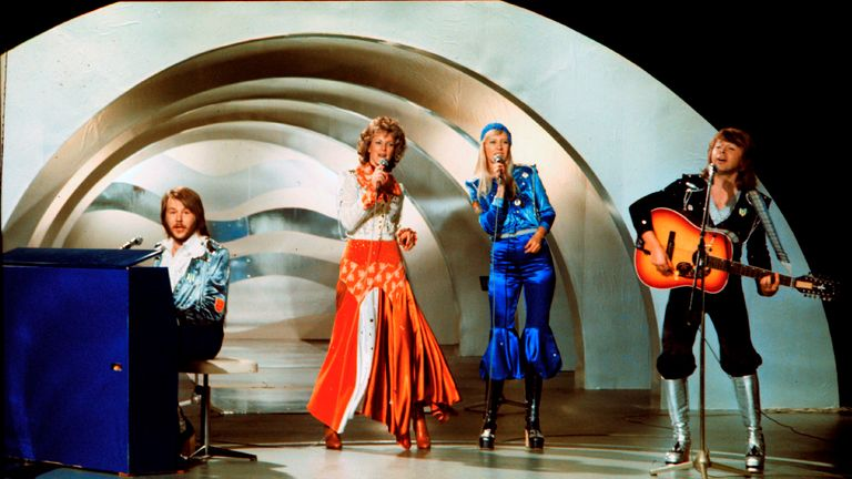 ABBA won the 1974 Eurovision song contest, held in Brighton