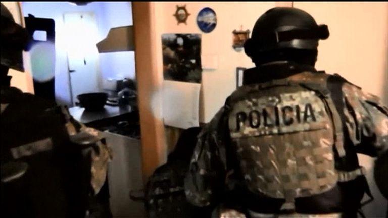 Police in Slovakia arrested five men over people smuggling