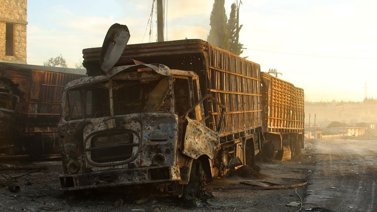 Humanitarian aid convoys were temporarily suspended following the attack