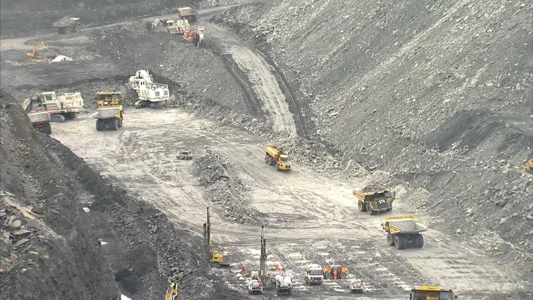 Open cast coal mine in the UK. Shotton.