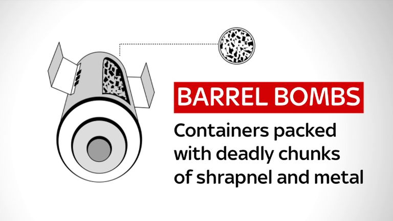 Barrel bombs are being used against Aleppo