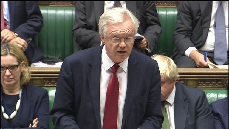 David Davis statement on Brexit in the House of Commons