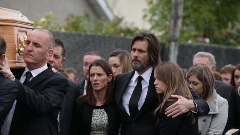 He joined Ms. White family and friends for her funeral in Ireland