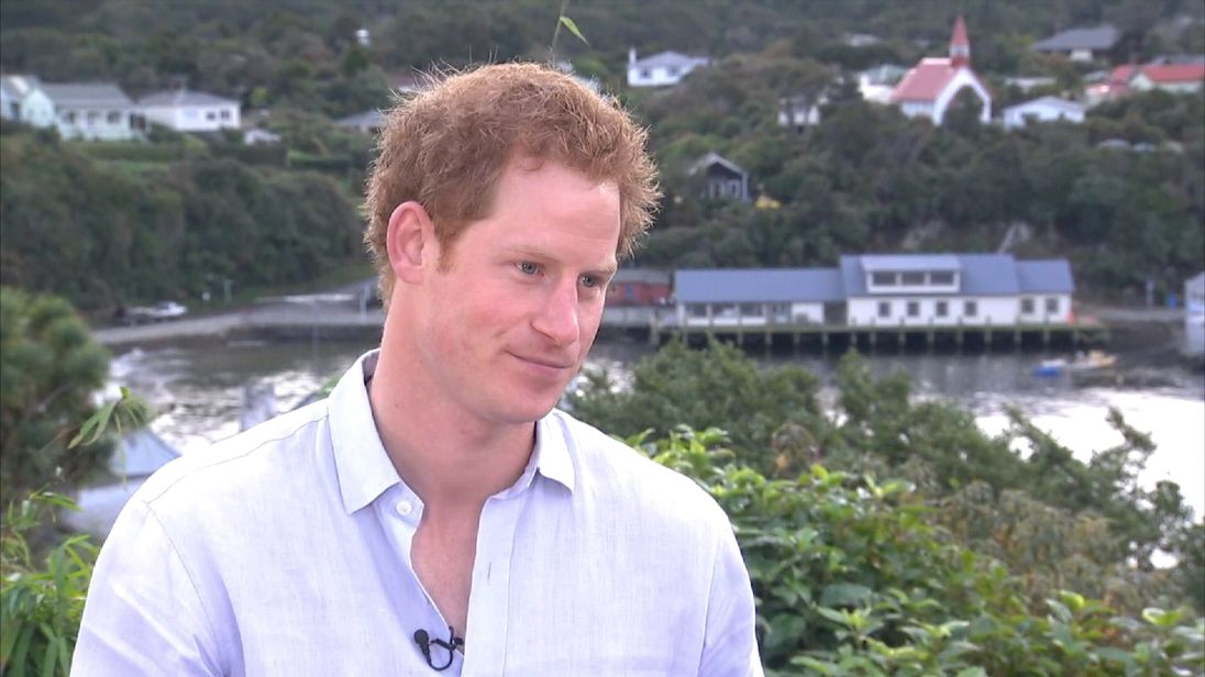 Prince Harry in Australia and New Zealand