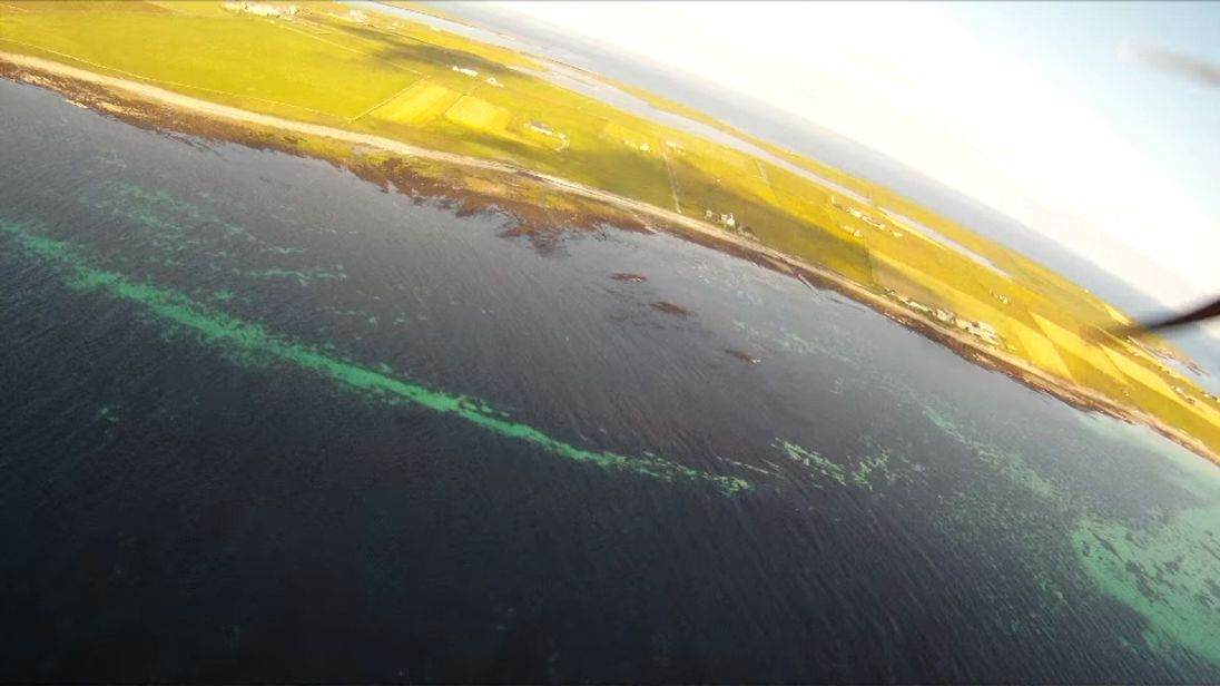 Still from video of flight from Westray to Papa Westray. Pictures: Andrew Brown