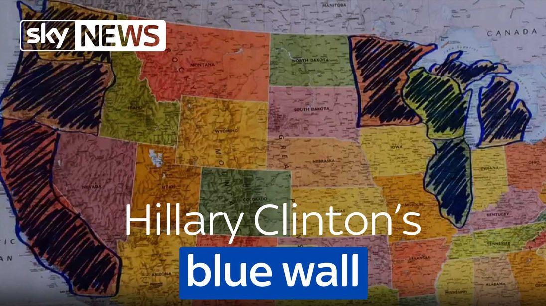 Hillary Clinton's blue wall