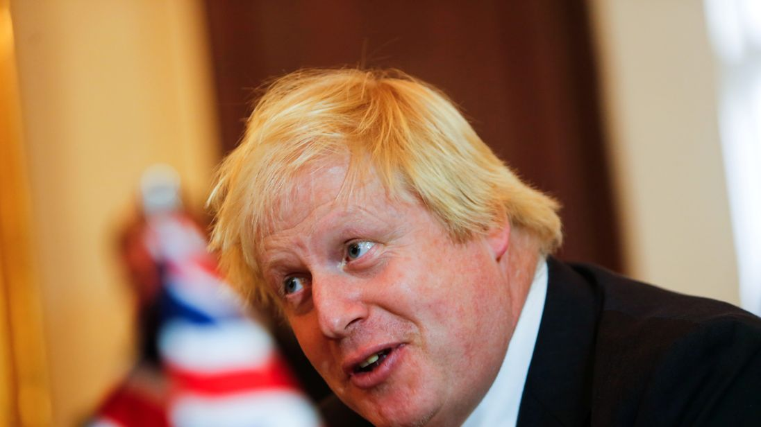 Boris Johnson has said Mr Trump's election victory is a 'great opportunity for the UK'