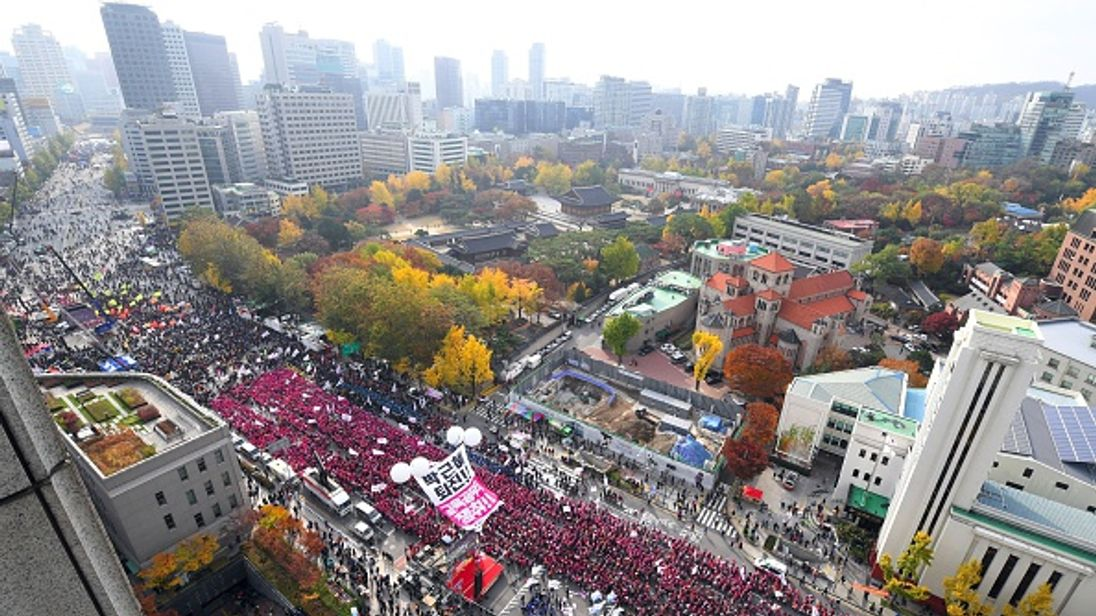 Organisers claim up to one million people turned out for the protest