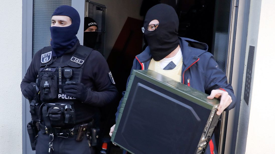 Mosques, offices and apartments were raided by hundreds of police