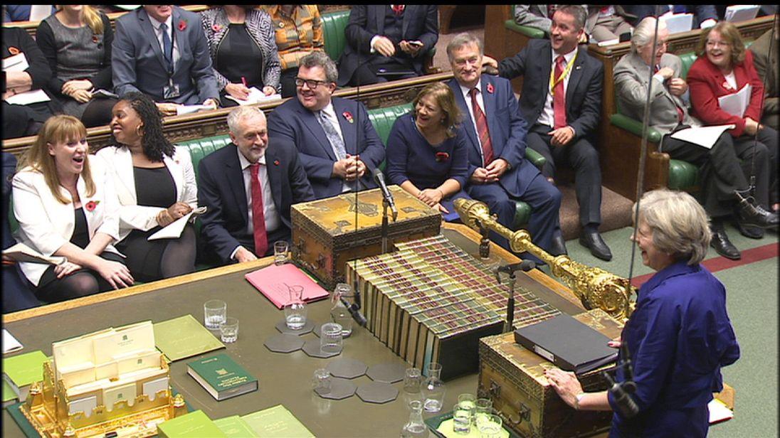 Awkward. Theresa May congratulates Jeremy Corbyn on grandchild - by mistake