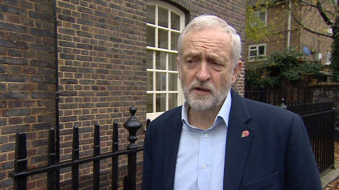 screen grab Jeremy Corbyn