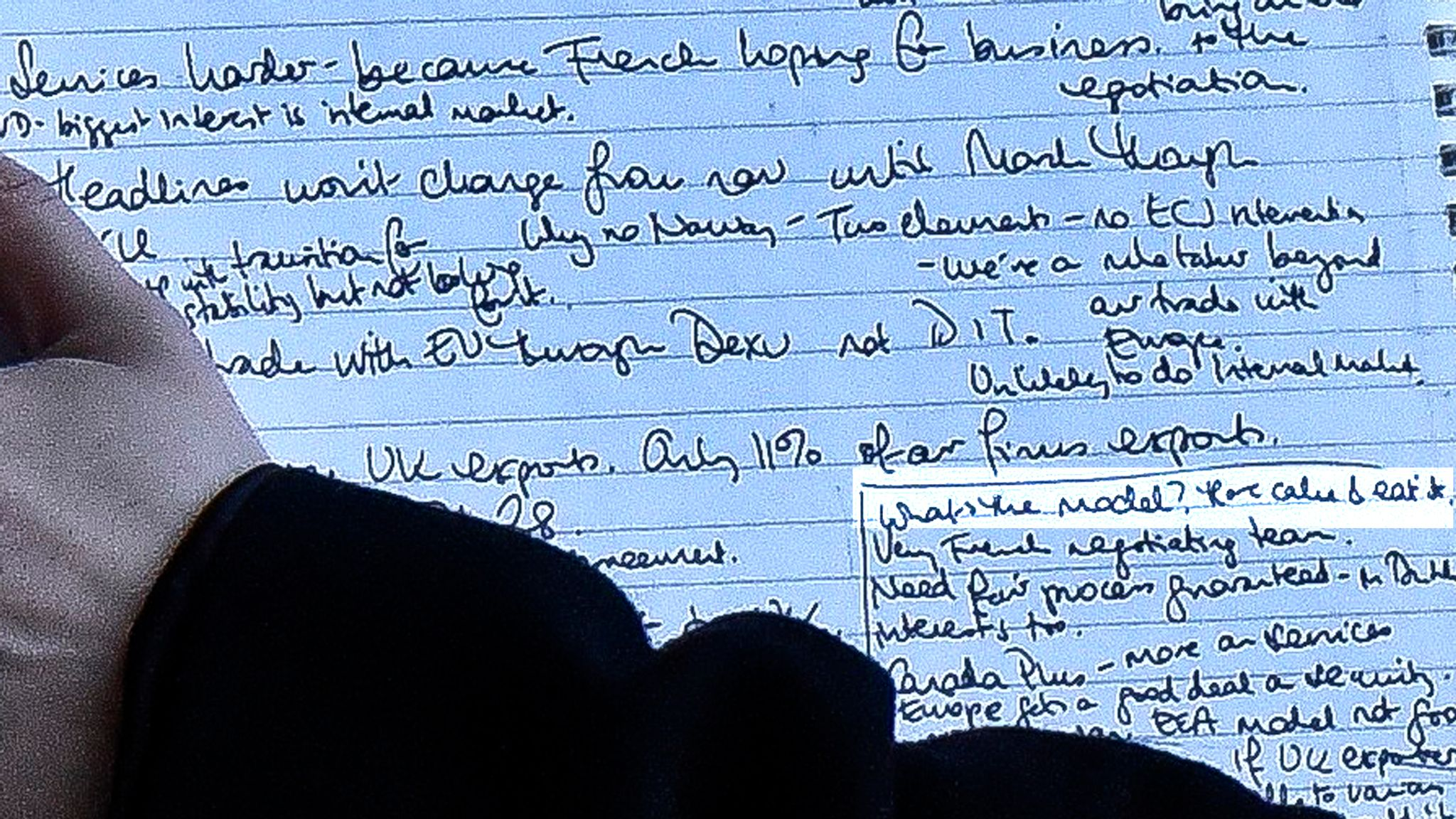 Handwritten notes with the text 'What's the strategy? Have cake & eat it.' highlighted.