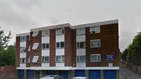 Police were called to these flats in Luton