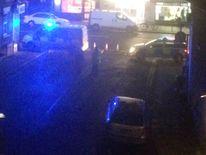 The scene outside HMP Bedford. Pic: @crake101