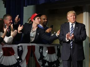 Donald Trump at a rally in Altoona, Wisonsin