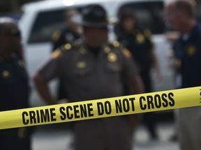 Police tape around a crime scene in the US. File picture