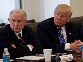 Jeff Sessions and Donald Trump