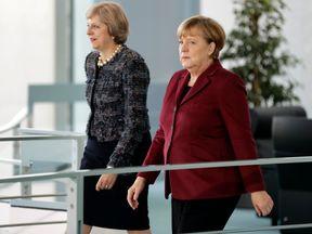 Angela Merkel and Theresa May at their recent meeting