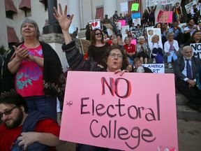 A protest against the Electoral College in Tallahassee, Florida