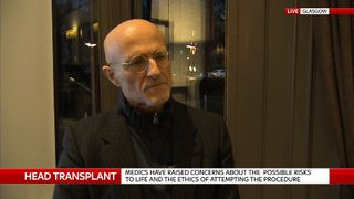 Professor Sergio Canavero, who is working towards performing a head transplant on a human