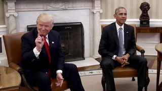 Barack Obama meets with Donald Trump to update him on transition planning