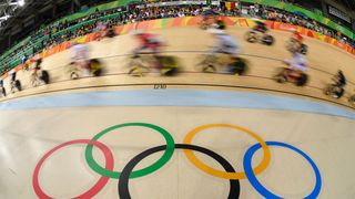 Cyclists compete in the Rio 2016 Olympic Games