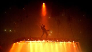 Kanye West performing in California