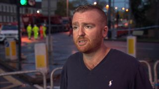 Shaun Rogers said he was on a tram that almost derailed at the same spot as a fatal crash