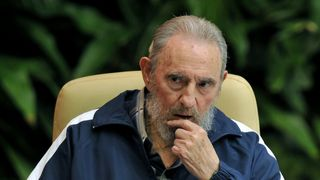 Fidel Castro at a Cuban Communist Party Congress meeting in 2011