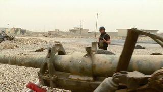 Alex Rossi on the frontline near Mosul