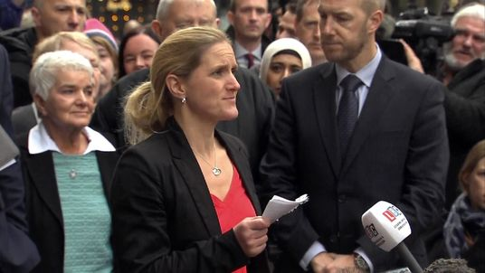 Kim Leadbeater, sister of murdered MP Jo Cox, speaks outside the Old Bailey, after the trial