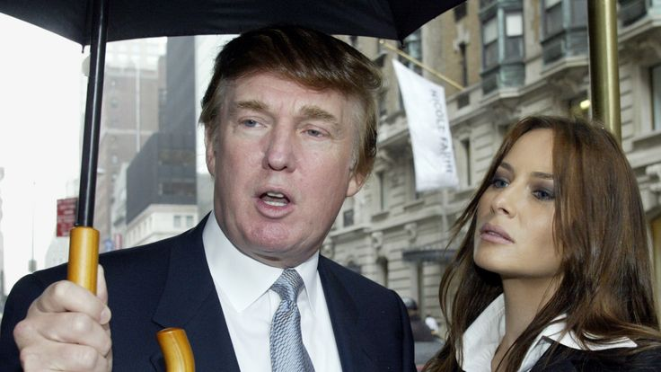 The real estate tycoon and Melania Knauss in New York in 2003. They married in 2005