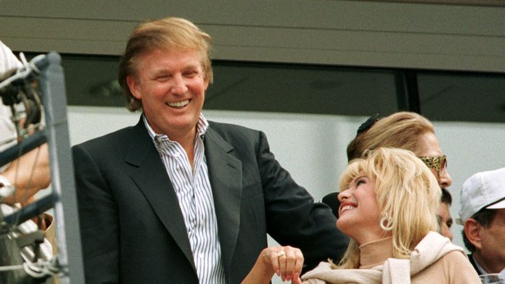 Mr Trump, pictured with his first wife Ivana, in 1997