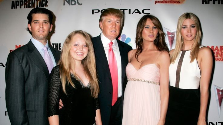 Donald Trump denied seeking security clearance for his children Donald Trump Jr.(L), Tiffany (2nd L) and Ivanka (R)
