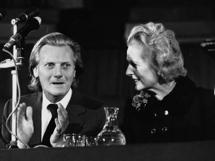 Michael Heseltine with Margaret Thatcher in 1975
