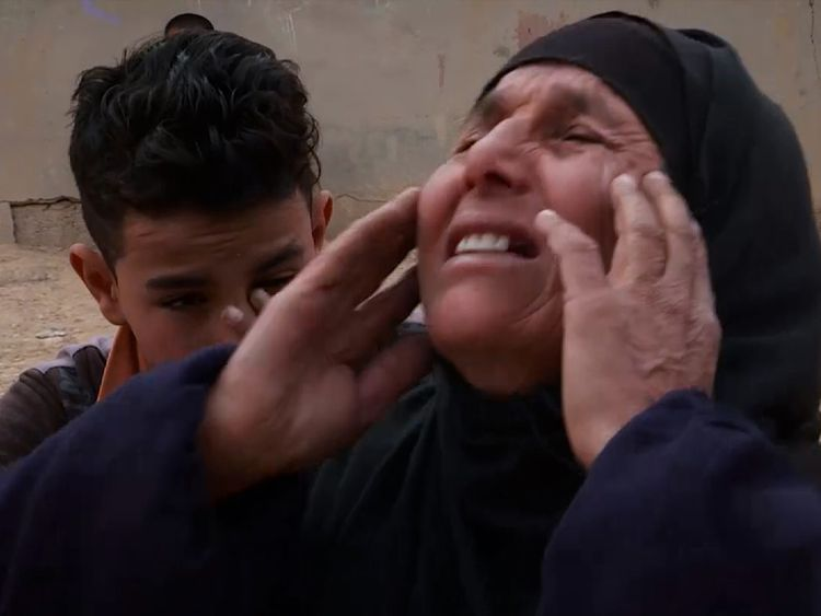The mother of two former Iraqi soldiers who were killed by Islamic State was inconsolable
