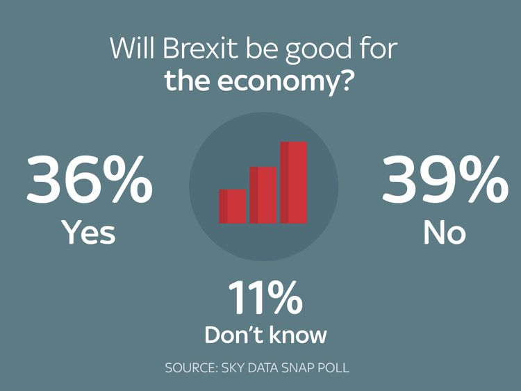 There is a split on whether Brexit will benefit the economy