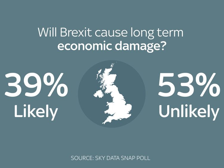 Most do not think Brexit will cause long-term damage