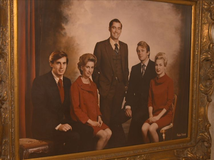 Portrait of Trump family, showing Freddy Trump (Donald's brother) standing in the centre.