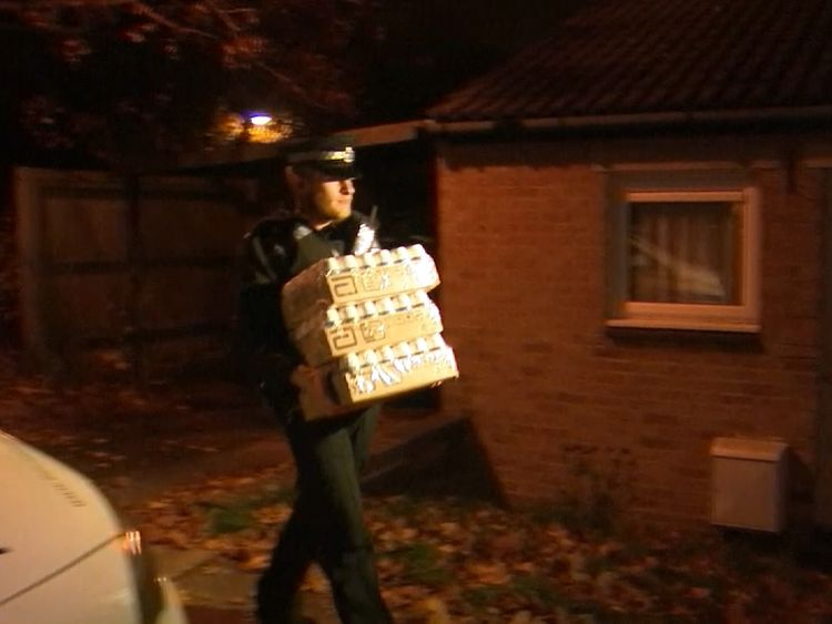 Police take out property from the home of Barry Bennell