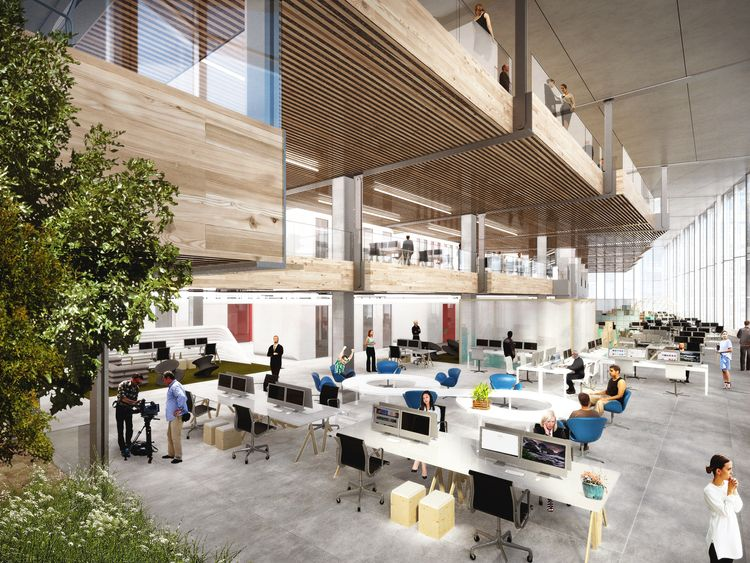 An artist's impression of Google's planned new London office